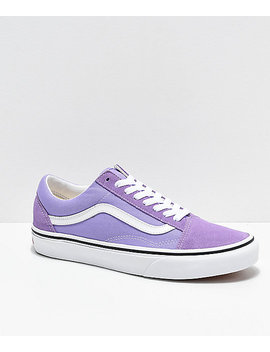 Vans Old Skool Violet &Amp; White Skate Shoes by Vans