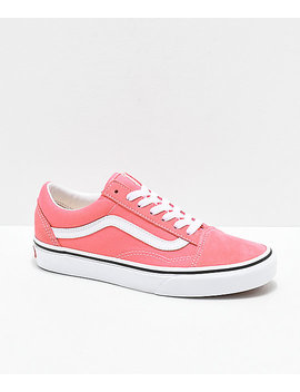 Vans Old Skool Strawberry Pink &Amp; White Skate Shoes by Vans