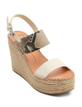 Women's Spiro Snake Embossed Platform Sandals by Dolce Vita