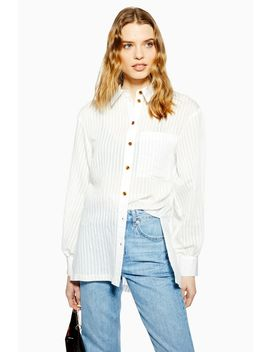 Stripe Oversized Shirt by Topshop