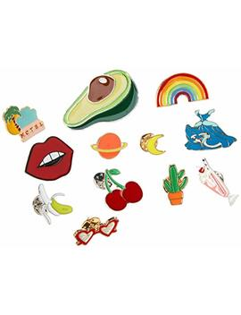 souarts-17pcs-women-girls-cute-carton-enamel-brooch-pin-for-backpacks-badges-for-clothes-bags-lapel-pin-set by souarts