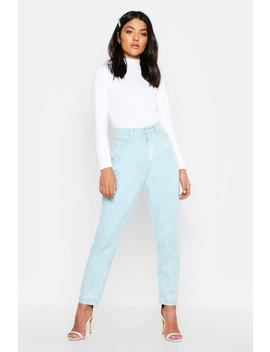 high-rise-acid-wash-mom-jeans by boohoo