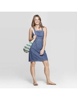 Women's Scoop Neck Tank Denim Dress   Universal Thread Medium Wash by Universal Thread Medium Wash