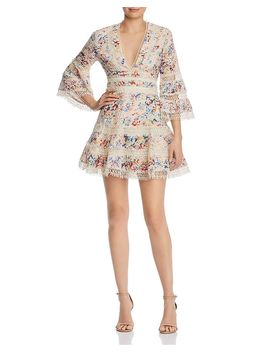 Floral Eyelet & Lace Dress   100 Percents Exclusive by Aqua