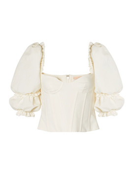 Cotton And Linen Blend Bustier Top by Brock Collection