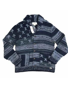 Denim & Supply Ralph Lauren Mens Blue Cotton Americana Cardigan Sz L Rrp £245 by Ralph Lauren