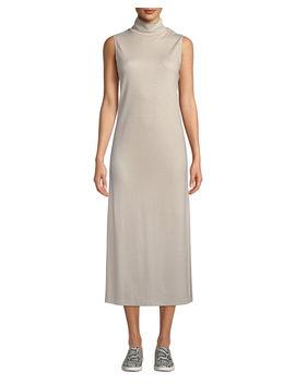 Wool Blend Sleeveless Turtleneck Long Dress by Vince