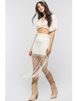 Jackie Fringe Mini Skirt by A'gaci