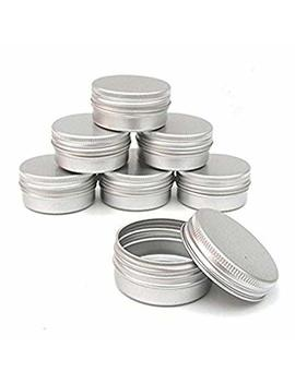 Ct Kcom Screw Top Round Steel Tins,2 Ounce, For Lip Balm, Crafts, Cosmetic, Candles, Storage Kit(Pack Of 10) by Ct Kcom