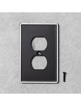 2pk-metal-painted-enamel-outlet-switch-plate-black---hearth-&-hand-with-magnolia by hearth-&-hand-with-magnolia