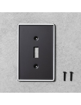 2pk-metal-painted-enamel-light-switch-plate-black---hearth-&-hand-with-magnolia by hearth-&-hand-with-magnolia