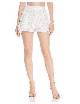 las-palmas-mixed-lace-shorts by for-love-&-lemons
