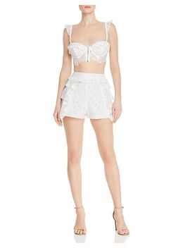 Las Palmas Crop Bra Top & Shorts by For Love & Lemons