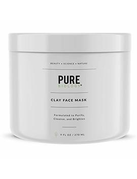Premium Face Mask – Bentonite Clay, Retinol, Collagen, Kaolin, Pea Peptides, Vitamins B, C, E – Cleanse, Smooth & Minimize Deep Pores, Dark Spots, Blackheads & Acne Scars – Men & Women, All Skin Types by Pure Biology