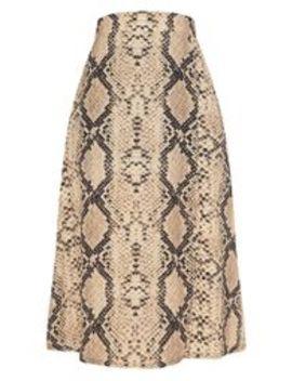 Snake Print Floaty Midi Skirt  by Prettylittlething