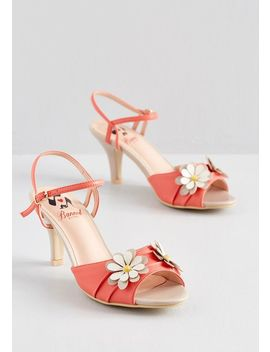 Daisy Lady Floral Heel by Banned