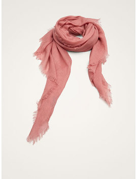 Solid 100% Cashmere Scarf by Massimo Dutti