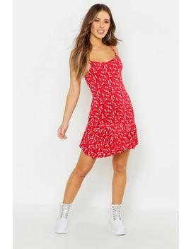Petite Ditsy Floral Wrap Mini Dress by Boohoo