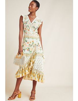 Farm Rio Tea Rose Wrap Dress by Farm Rio For Anthropologie
