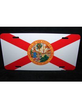 Florida State Flag Metal Aluminum Car License Plate Tag by Digiart International
