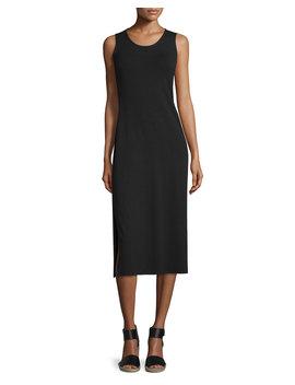 Jersey Midi Dress, Black by Eileen Fisher