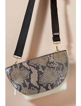 Snake Effect Leather Crossbody Bag by Anthropologie