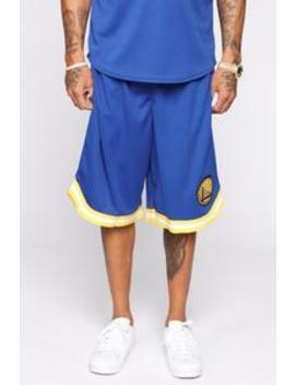 Team Shorts   Blue/Combo by Fashion Nova