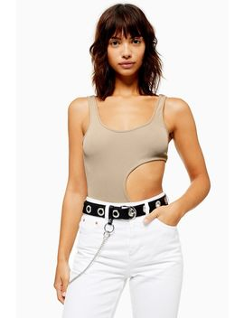 Cut Out Ribbed Bodysuit by Topshop
