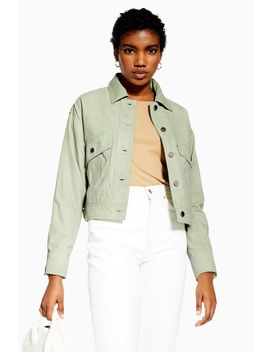 Mint Suede Jacket by Topshop