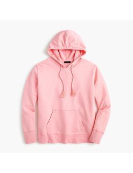 Garment Dyed Tassel Hoodie Sweatshirt by J.Crew