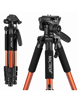 mactrem-pt55-travel-camera-tripod-lightweight-aluminum-for-dslr-slr-canon-nikon-sony-olympus-dv-with-carry-bag--11-lbs(5kg)-load-(orange) by mactrem