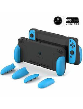 Skull & Co. Grip Case: A Comfortable Protective Case With Replaceable Grips [To Fit All Hands Sizes] For Nintendo Switch [No Carrying Case]  Double Neon Blue by Skull & Co.