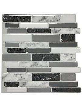 "Art3d Peel And Stick Wall Tile For Kitchen Backsplash, 12""X12"", (10 Tiles) by Art3d"