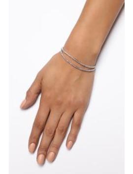 Dianna Rhinestone Bracelet   Silver by Fashion Nova