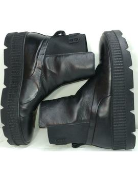 Puma Fenty X Rihanna Chelsea Creeper Boots Black Leather 36626503 Mens Size 13 by Ebay Seller