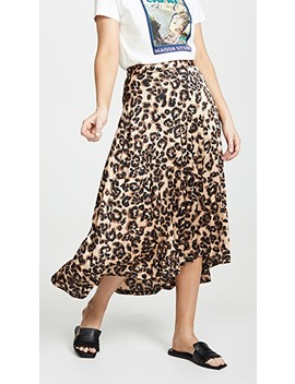 Sheen Leopard Skirt by J.O.A.