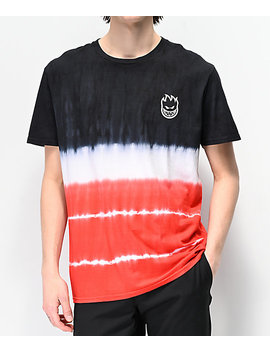 Spitfire Lil Bighead Black, White &Amp; Red Washed T Shirt by Spitfire