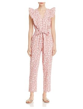 Ruffled Paisley Jumpsuit by La Vie Rebecca Taylor
