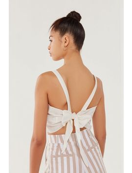 Uo Annabelle Apron Tie Back Cropped Top by Urban Outfitters