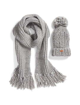 Chunky Knit Hat & Scarf Set by Barbour