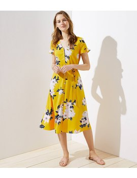 Bouquet Flutter Shirtdress by Loft