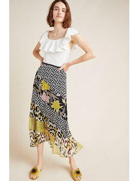 Diane Von Furstenberg Darcie Silk Midi Skirt by Diane Von Furstenberg