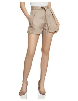 Pleated Paperbag Waist Shorts by Bcbgmaxazria