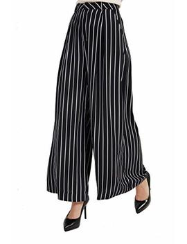 Tronjori Women High Waist Casual Wide Leg Long Palazzo Pants Trousers by Tronjori
