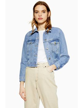 Tall Mid Blue Denim Jacket by Topshop