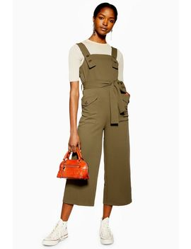 Tall Pinafore Button Jumpsuit by Topshop