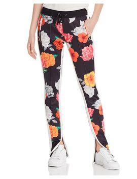 Floral Print Track Pants by Pam & Gela