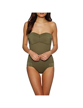 Seafolly Quilted Bandeau One Piece by Seafolly