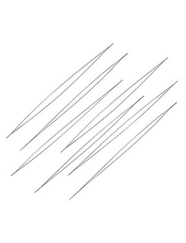 Craftdady 10 Pcs Stainless Steel Large Big Eye Collapsible Embroidery Beading Needle Easy Thread Sewing Needles, 125mm (4.92 Inches) Long, 0.1mm Thick by Qingsen