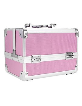 Homdox Extendable Makeup Train Case Aluminum Cosmetic Box With Mirror Jewelry Box Cosmetic Organizer by Homdox